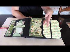 How to Make a Accordion Fold Mini Scrapbook Album Craft Tutorial - YouTube
