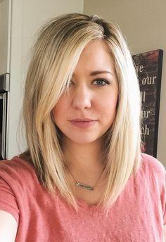 The Bob + Lob Haircut: 5 Questions to Ask Before You Chop Your Hair — Adrianna Bohrer Thin Hair Haircuts, Mom Hairstyles, Haircut For Thick Hair, Cut My Hair, New Hair, Long Lob Haircut, Women's Haircuts Medium, Wedding Hairstyles, Cute Mom Haircuts