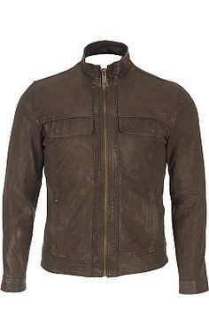 Marc New York Sawyer - Stand Collar Open Bottom Leather Jacket