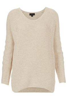 Topshop Knitted Clean V-neck Jumper