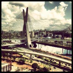 A Ponte Estaiada é nosso papel de parede real - @terranoticias- #webstagram