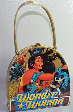 Wonder Woman Comic Book Upcycled Clutch Evening Purse by CurbedEarth #teens #wonderwoman #comicbook #clutchpurse