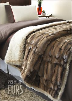 Deluxe Regal Faux Fur Throw King Throw: 54 x 102 only a mere $1000. Pfft. man. Ouch. Specail orders ok -80 combos of fur and 5 sizes avail. #fauxfur, #Kingfurthrow