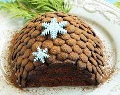 Buche caramel  écailles de chocolat