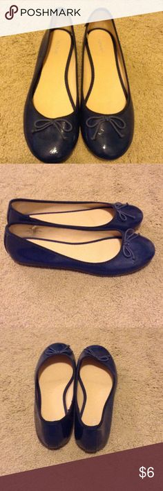 Ballet flats Like new patent blue ballet flats. Old Navy Shoes Flats & Loafers