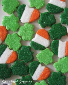 Itsy Bitsy St. Patrick's Day Cookies 2 Dozen by SongbirdSweets, $18.00