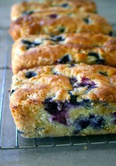 Blueberry Cream Cheese Bread -- Pretty simple and delicious. Could use gluten-free flour. anecdotesandapples.com #blueberrybread #blueberrycreamcheese #creamcheesebread