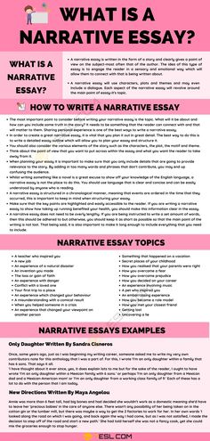 Narrative Essay: Definition, Examples & Useful Tips for Writing a Narrative Essay Essay Tips, Essay Writing Tips, English Writing Skills, Narrative Writing, Writing Lessons, Learning English, Writing Advice, English Tips, English Study