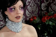 Clear crystal posture collar