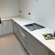 Bianco De Lusso - Hitchin, Herts - Rock and Co Granite Ltd Kitchen Cabinets, Home Decor, Decoration Home, Room Decor, Cabinets, Home Interior Design, Dressers, Home Decoration, Kitchen Cupboards