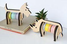 Wooden Animal Washi Tape Holders