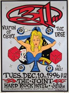 Concert Poster. The Urge and 311 go way back