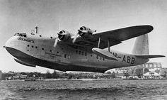 VH-ABB. Qantas Empire Airways - in the original livery at Rose Bay, Sydney,