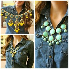 Don't like them with the jean shirt but love the necklaces