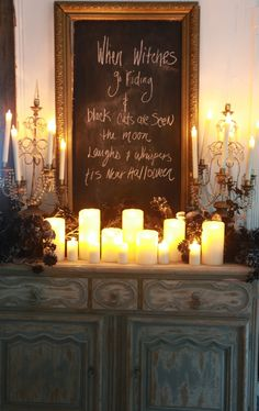Have the candles and the chalk board... totally doable idea!!