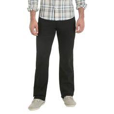 Wrangler Red Men's Vintage Straight Stretch Twill Pant, Size: 34x32, Black