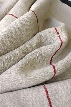 Antique Linen Hemp Homespun Fabric