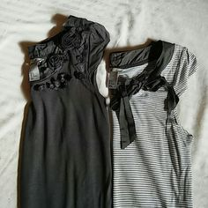 Bundle of 2 H&M brand tank tops size small Bundle of 2 H&M brand same style tank tops , one is gray an white striped and other is gray . very pretty. One says small other medium, I think they both run like a small H&M Tops Tank Tops
