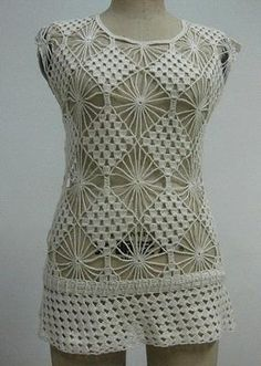 Lady's hottest crochet lace top(R868)