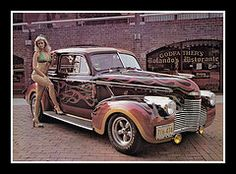"'40 Chevy Sedan Show Car, 1975 (Cosmo's ""ART"" Gallery) Tags: chevrolet sedan vintage photo automobile 1940 babe 1975 customcar showcar"