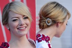 Emma Stone's Knotted Bun
