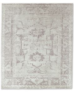 Arte Rug - Grey/Silver--possibly library room Hand Knotted Rugs, Hand Weaving, Living Room Pillows, Woodland Hills, Fireplace Mantle, Grey Rugs, Eclectic Style, Restoration Hardware, Rugs On Carpet