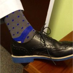 I know I talk about my socks a lot. But I think I found my all time favorite pair. Polka dots: