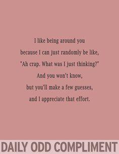 Daily odd compliment dump - Imgur