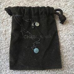 Michael Kors necklace Michael Kors blue pave necklace. Barely worn like new Michael Kors Jewelry Necklaces