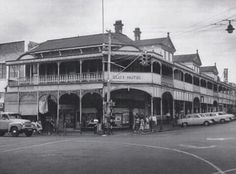The Club Hotel which once stood on the North-East corner of the Ruthven and Margaret St intersection, sure looks like it was an impressive structure. It was constructed in the but is pictured here in 1956 Brisbane, Old Photos, Louvre, Corner, Street View, Australia, Club, Explore, History