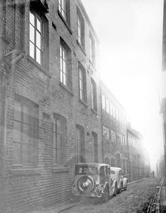 Backfields from outside No. the former premises of William Wilson and Son, Carriage Works. Further premises on left include rear of Cambridge Street Horn Works and Brook Bros. Cambridge Street, My Family History, Sheffield, Horn, Past, The Outsiders, Past Tense, Horns