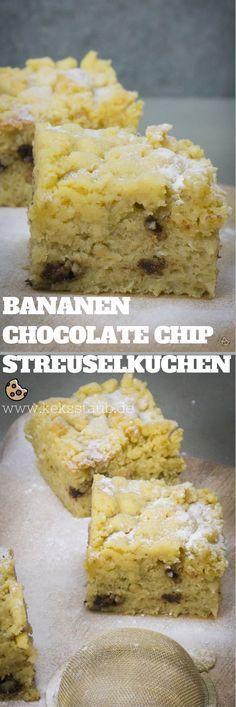 Rezept zum Backen eines super lecker matschigen Bananen Chocolate Chips Streuselkuchen zum Geburtstag oder einfach zwischendurch als Soulfood - Anleitung mit und ohne Thermomix #Rezept #Streuselkuchen #Thermomix