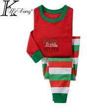 Cartoon Toddler Baby kids christmas pajamas clothes meisjes kleding sets conjunto infantil menina&menino ropa bebes conjuntos(China (Mainland))