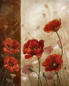 Wild Poppies I by Konrad Knutsen