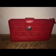 Brighton Leather Red Organizer Wallet Here is a Brighton Leather Red Organizer Wallet. It is in great condition Brighton Bags Wallets