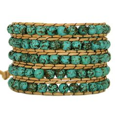 [Pre-Order] Natural Turquoise Stone Wrap Bracelet