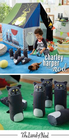 Our Charley Harper raccoon bowling set is new take on the popular wildlife artist's iconic designs.