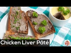 This chicken liver pate has a really gentle texture and mild taste and might be good starters in any time of the day in any season. Chicken Liver Pate, Chicken Livers, Pate Recipes, Semolina Cake, Ratatouille Recipe, Best Starters, Yum Yum Chicken, Avocado Toast, Breakfast Recipes