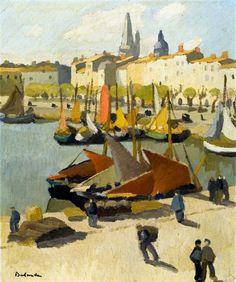 Gaston Balande, France 1880-1971  Le quai Duperré before 1925 La Rochelle, Musées d'Art et d'Histoire.