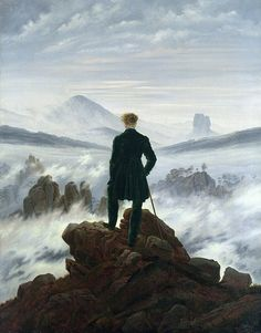 Wanderer above the sea of fog By Caspard David Friedrich.
