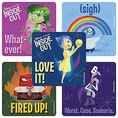 Disney Inside Out Stickers (5) for less than $1. These are great for sticking in a party favor bag or sealing invitation envelopes!