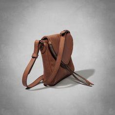 Faux Leather Foldover Crossbody Bag