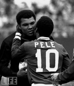 Icons ©: Two Great Sports Icons Together :- the King of Boxing, Muhammad Ali and the King of Football, Pelé [October Muhammad Ali, But Football, Sport Icon, Sports Figures, World Of Sports, Sports Stars, Sports Illustrated, Soccer Players, Soccer Pro
