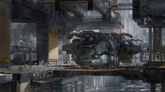 concept ships: Spaceships and environment by Ruan Jia