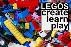 legos: 20 ways to create learn and play with kids & bricks - such great ideas, including a link to print off lego instruction booklets. Lego Activities, Craft Activities For Kids, Projects For Kids, Crafts For Kids, Lego Challenge, Lego Club, Lego Building, Building Ideas, Lego Instructions