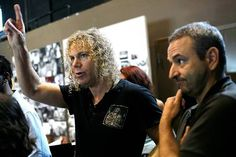"Composer David Bryan, left, of the band Bon Jovi and lyricist Joe DiPietro are the creative forces behind ""Memphis."" (Sean Masterson, For The Times)"