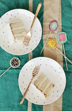 gem cake toppers DIY | designlovefest