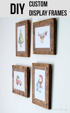 How To Make Easy Diy Custom Frames For Pictures And Printables Diypictureframes Christmasdecorideas