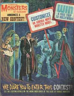 Famous Monsters of Filmland Aurora modeling contest