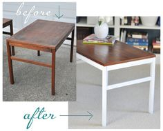 Simple Side Table Makeover via Centsational Girl